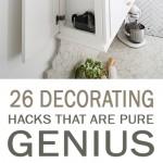 decorating hacks, genius decorating hacks, decorating, popular pin, home decor, interior design interior design hacks.