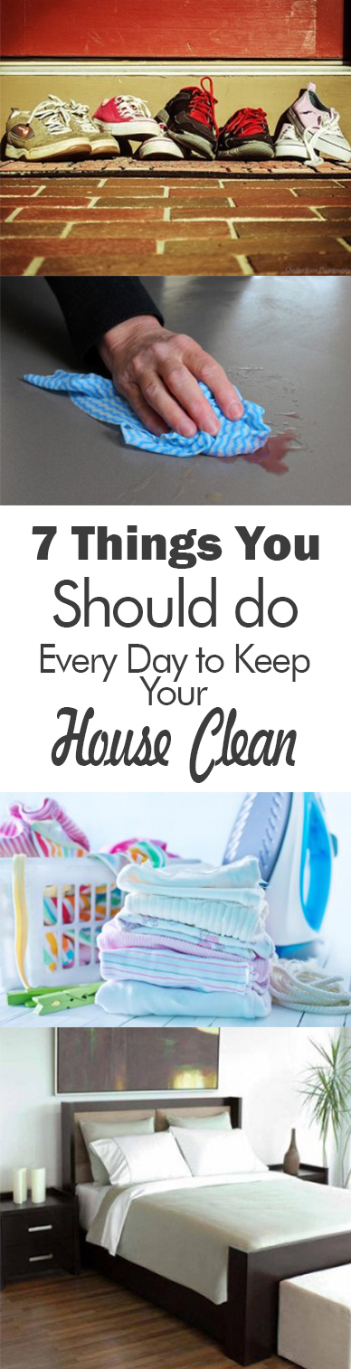how to keep your house clean everyday