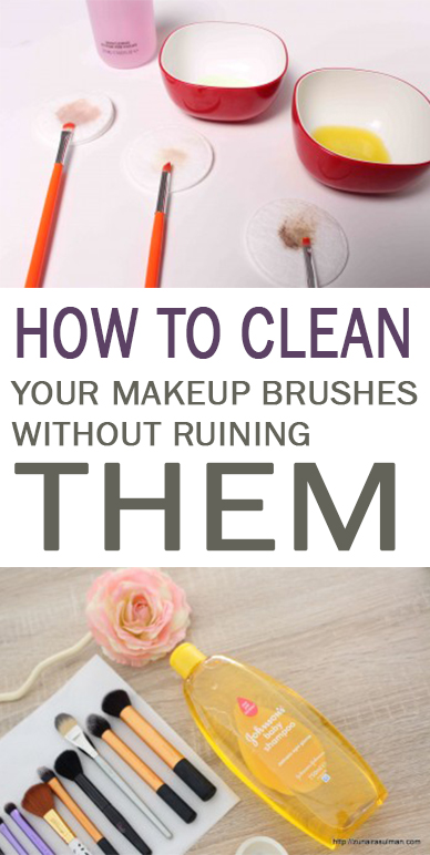 Cleaning, clean makeup brushes, beauty hacks, makeup hacks, makeup tips and tricks, popular pin, health and beauty.