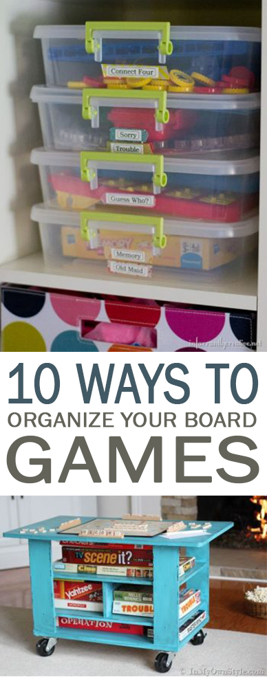 Board game organization, organization, board games, popular pin, organization, DIY organization, home organization.