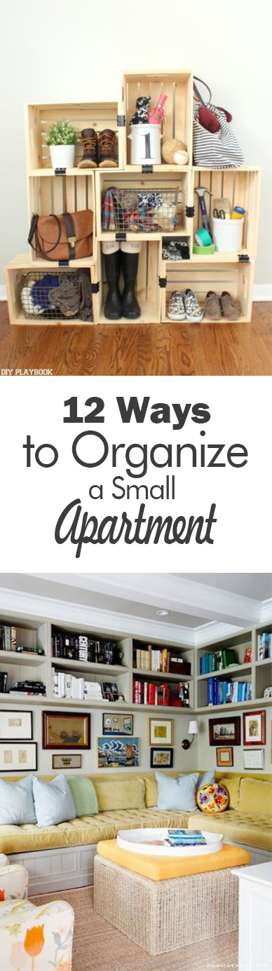Organization, small apartment organization, organization hacks, popular pin, small space living, small space living hacks.ent