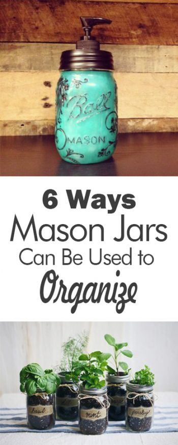 Mason jar organization, organization hacks, DIY organization, mason jar, popular pin, easy home improvement, organization at home.