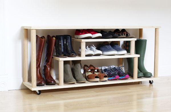 Обувница на стену своими руками