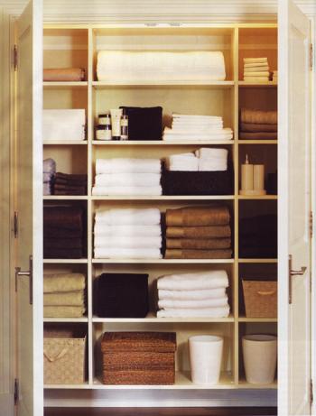 Linen closet, closet organization, how to organize your closet, popular pin, closet tips, home organization.