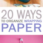 Wrapping paper organization, wrapping paper storage, popular pin, craft room organization, craft room storage hacks, DIY wrapping paper storage, DIY storage ideas