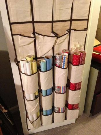20 Ways to Organize Wrapping Paper