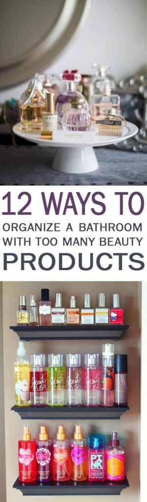 Bathroom, bathroom organization, small bathroom hacks, organization hacks, home organization hacks, popular pin, beauty product storage.