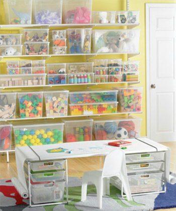13 Genius Ways to FINALLY Organize Kid Clutter11