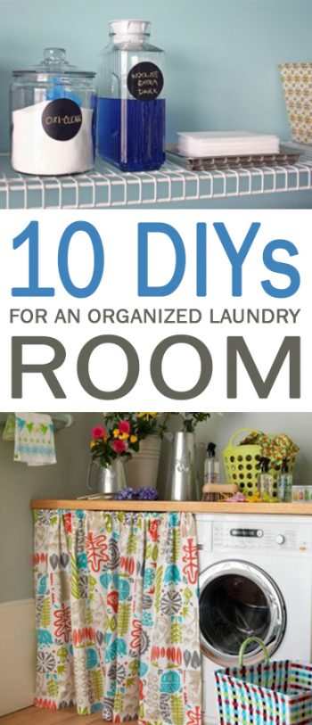 10 DIYs for an Organized Laundry Room