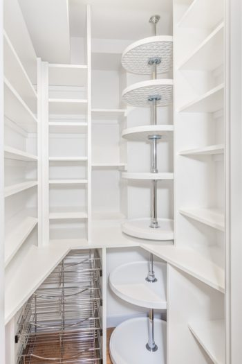 There is nothing worse than having a messy pantry. These pantry organizers will help transform your pantry. Lazy Susans really make a difference in a pantry.