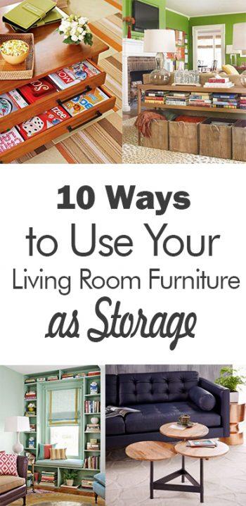 Living room storage, storage hacks, DIY storage hacks, home storage, organization, DIY home organization, home organization tips, popular pin, clutter free home.