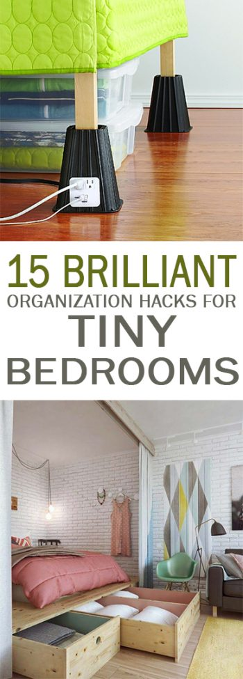 Organization Hacks How To Organize Small Bedrooms Bedroom Tiny