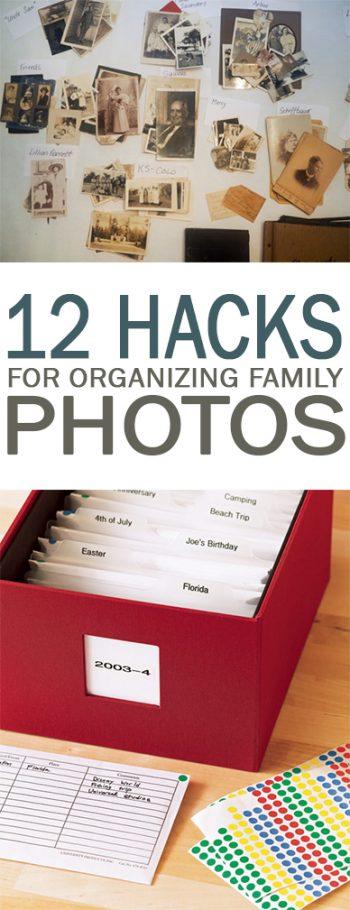 How to Organize Family Photos, Family Photo Organization, Home Organization, How to Organize Photos, How to Store Photos, Storing Family Photos, Popular