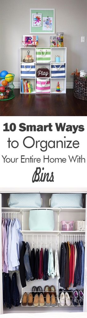 10 Smart Ways To Organize Your Entire Home With Bins 101