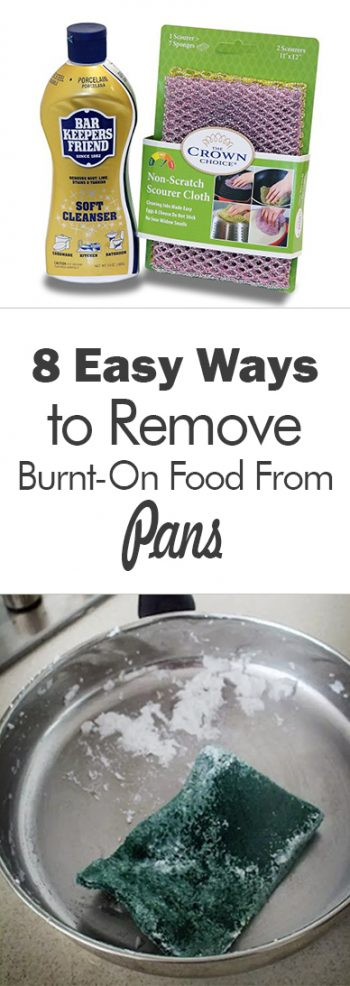 How to Clean Pots and Pans, How to Clean Burnt On Food, How to Clean Burnt On Food from Pans, Easy Ways to Clean Pans, Cleaning Tips and Tricks, Cleaning Hacks, Cleaning Food, Popular Pin