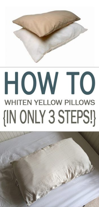 How to Whiten Yellow Pillows {In Only 3 Steps!}