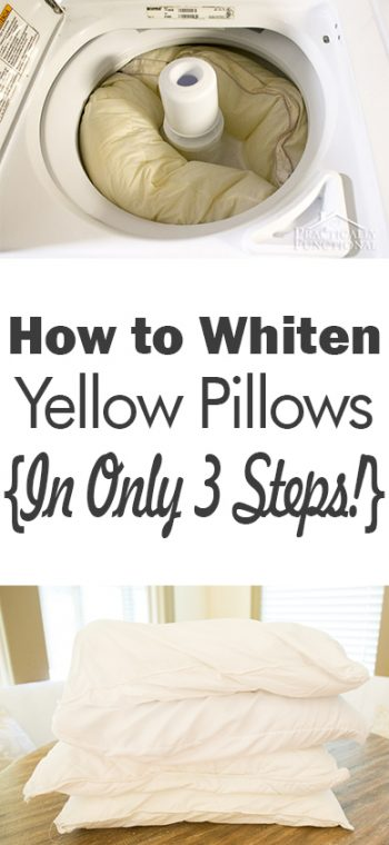 How to whiten yellow pillows in only 3 steps page 7 of 7 101 days of organization - Whiten yellowed pillows ...