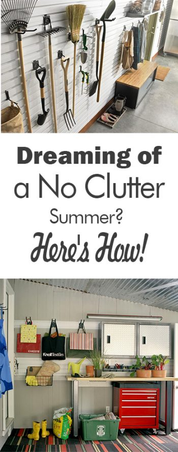Dreaming of a No Clutter Summer? Here's How! - 101 Days of Organization| Yard Organization, How to Organize Your Yard, Tips and Tricks, How to Organize Your Yard Tools, Garden Shed Organization, How to Declutter Your Garage, Garage Organization, Organized Garage