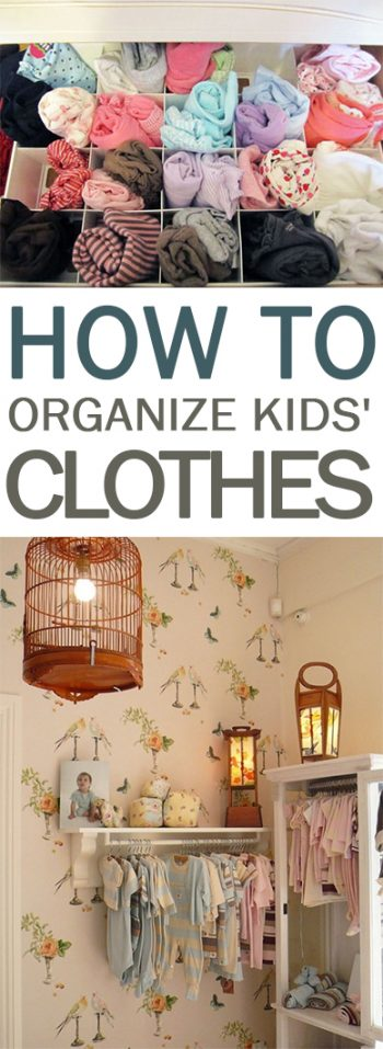 How To Organize Kids 39 Clothes 101 Days Of Organization