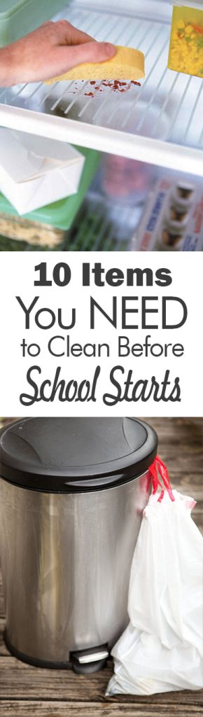 10 Items You NEED to Clean Before School Starts| Cleaning, CLeaning Tips and Tricks, Items to Clean for Back to School, Home Cleaning, Home Cleaning Tips and Tricks, Cleaning Hacks, Popular Pin