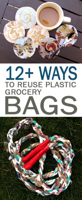 12+ Ways to Reuse Plastic Grocery Bags - 101 Days of Organization| How to Reuse Grocery Bags, Reusing Grocery Bags, DIY Home Decor, Repurpose Projects, Craft Projects, Repurpose Projects DIY, Popular Pin.
