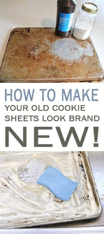 How to Make Your Old Cookie Sheets Look Brand New! - 101 Days of Organization| Clean Your Cookie Sheets, How to Clean Your Cookie Sheets, How to Refresh Your Cookie Sheets, Clean Kitchen Clean Kitchen Hacks, How to Clean Your Kitchen, Fast Ways to Clean Your Cookie Sheets, Popular Pin