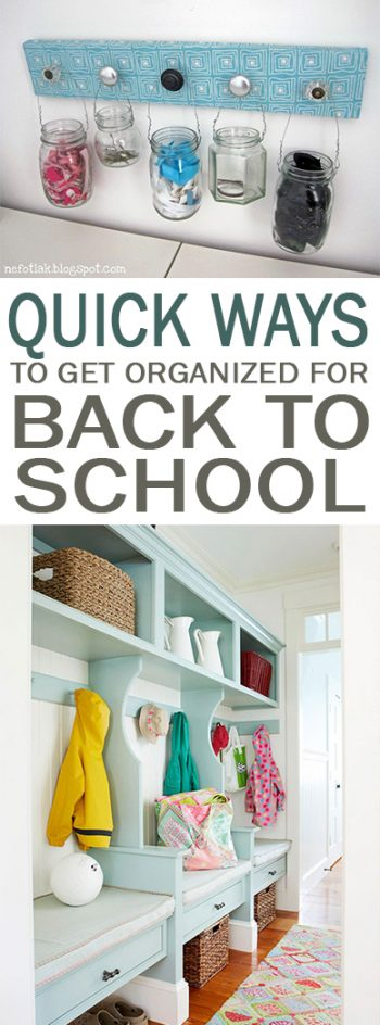 Quick Ways to Get Organized for Back to School| Organization Hacks, How to Get Organized for Back to School, Organization, DIY Home, Back to School Organization Hacks, Organization 101, Organize Your Home, How to Keep Your Home Organized, Back to School Organization, Popular Pin