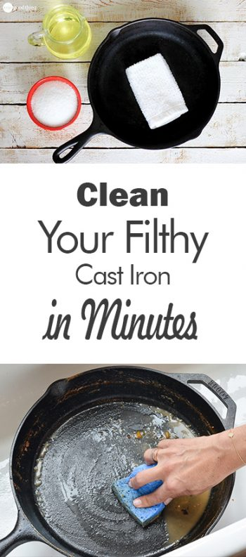 Clean Your Filthy Cast Iron in Minutes| Cleaning Cast Iron, How to Clean Cast Iron, Simple Ways to Clean Cast Iron, Cleaning, Cleaning Tips and Tricks, Simple Ways to Clean Cast Iron