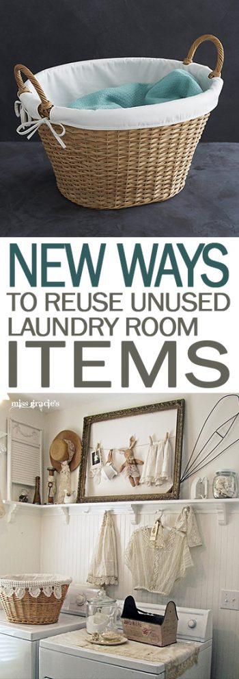 New Ways to Reuse Unused Laundry Room Items