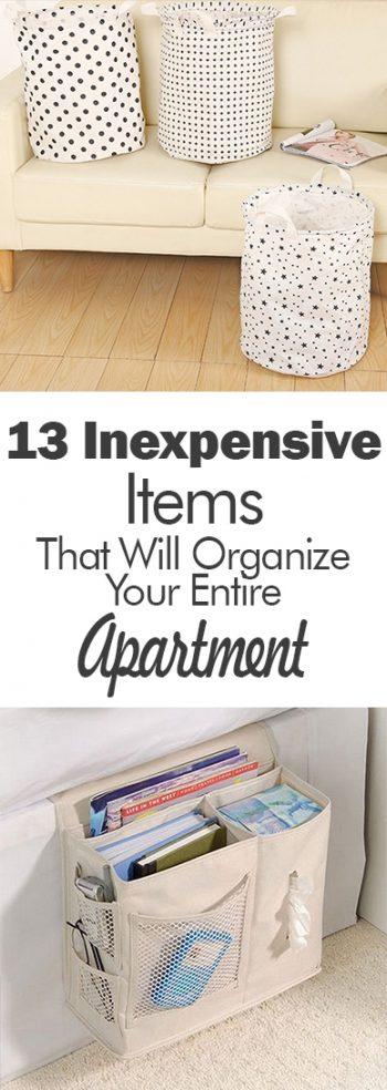 13 Inexpensive Items That Will Organize Your Entire Apartment| Organization, Apartment Organization, Apartment Organization Hacks, Home Organization, Declutter, Declutter Your Home, How to Declutter Your Home #Organization #HomeOrganization #HomeOrganizationTips #OrganizationDIY