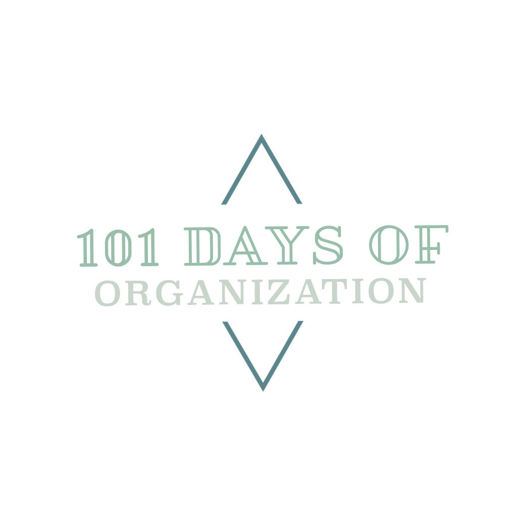 101 Days of Organization