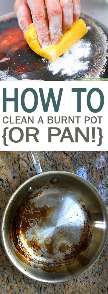 How to Clean a Burnt Pot {or Pan!} - 101 Days of Organization| Cleaning Burnt Pots, Burnt Pot and Pans, Kitchen Cleaning, Kitchen Cleaning, Kitchen Care, Popular Pin #Kitchen #KitchenHacks #KitchenCleaningHacks