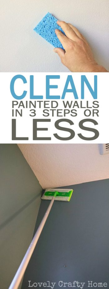 Clean Painted Walls in Three Steps {or Less!} - 101 Days of Organization| Cleaning, Cleaning Tips and Tricks, Painted Walls, Painted Wall Hacks, How to Clean Your Walls, Clean Home, Clean Home Hacks, Tips and Tricks, Popular Pin #Cleaning #CleaningHacks