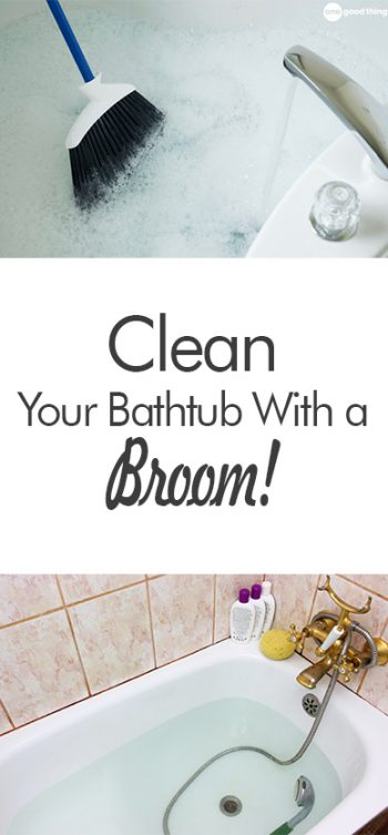 Clean Your Bathtub With a Broom! - 101 Days of Organization| Cleaning Hacks, Cleaning, Clean Home Hacks, Organization, Home Organization, Cleaning Hacks, Popular Pin #Cleaning #CleaningHacks