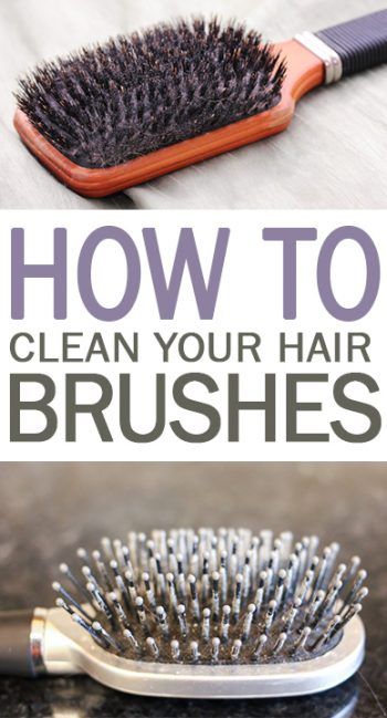 How to Clean Your Hair Brushes - 101 Days of Organization| Cleaning, Cleaning Hacks, Clean Your Hair Brushes, Home Cleaning Hacks, Beauty Hacks, Hair Care #Cleaning #Hair #Brush