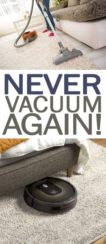 Never Vacuum Again! - 101 Days of Organization  Vacuum, Vacuumming Hacks, Home Hacks, Cleaning Hacks, Cleaning Hacks for the Home, DIY Home, DIY Home Hacks, Hacks for the Home, #Vacuum #HomeHacks