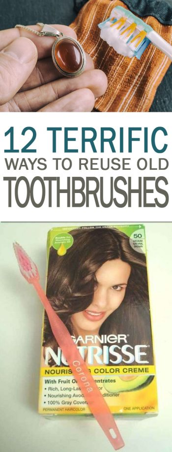 12 Terrific Ways to Reuse Old Toothbrushes - 101 Days of Organization| Reuse Toothbrushes, Toothbrush Uses, Uses for Toothbrushes, DIY Home, Cleaning, DIY Cleaning, Cleaning Hacks, Home Cleaning, Home Cleaning Tips and Trickse