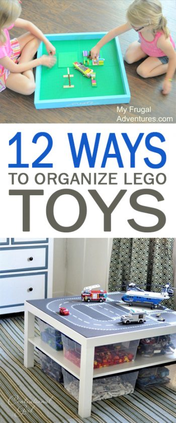 12 Ways to Organize Lego Toys - 101 Days of Organization| Lego Organization, Toy Organization, How to Organize Legos, How to Organize Kids Toys, Toy Organization, Easy Toy Organization