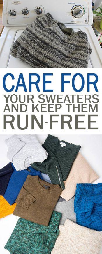 Care for Your Sweaters and Keep Them Run-Free - 101 Days of Organization| Care for Your Sweaters, Sweater Care, Sweater Care Tips and Tricks, CAring for Sweaters, How to Care for Your Sweaters