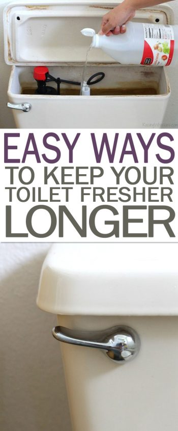 Easy Ways to Keep Your Toilet Fresher Longer - 101 Days of Organization| Freshen Your Toilet, How to Freshen Your Toilets, Bathroom, Bathroom Cleaning, Bathroom Cleaning Hacks, DIY Bathroom, DIY Cleaning TIps and Tricks, Bathroom Cleaning 101 #Bathroom #BathroomCleaning #FreshBathroom