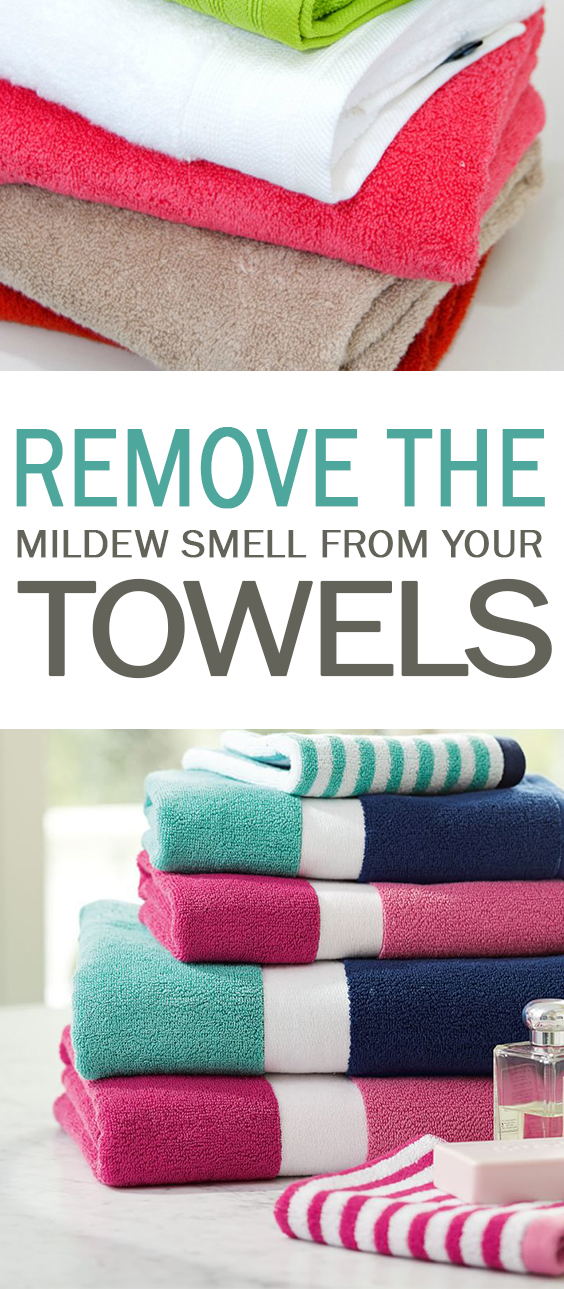 how to clean mildew towels