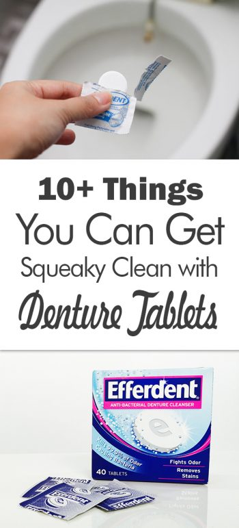 10+ Things You Can Get Squeaky Clean with Denture Tablets - 101 Days of Organization| Cleaning Hacks, Cleaning, Cleaning Tips, Clean house, Clean Home, Denture Tablet Uses, Denture Tablet Cleaning Toilets, Denture Tabs for Cleaning, Denture Tablets for Cleaning
