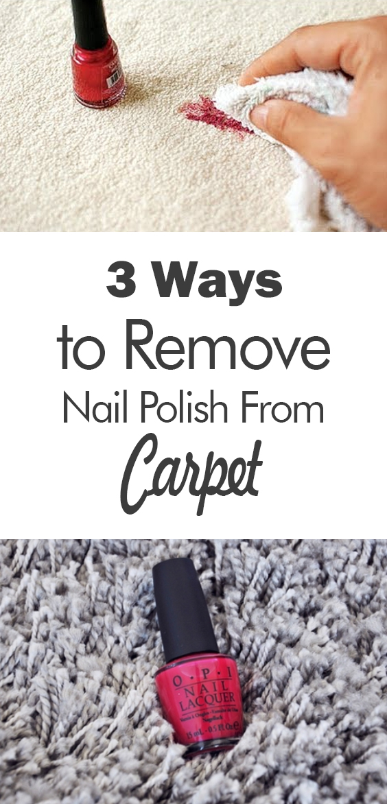 how to clean fingernail polish out of carpet