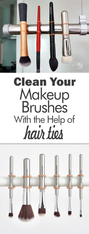 Clean Your Makeup Brushes With the Help of Hair Ties - 101 Days of Organization| Makeup Brushes, Makeup Brush Care, DIY Makeup Brush Care, Easy Makeup Brush Care, Beauty, Cleaning, Cleaning Hacks, Makeup Hacks,  Beauty Hacks #MakeupBrush #Cleaning