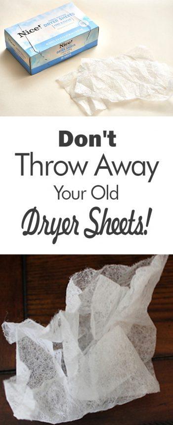 Old Dryer Sheets | DIY Uses for Old Dryer Sheets | Dryer Sheets | Re-Use Dryer Sheets | How to Use Old Dryer Sheets | Re-Use