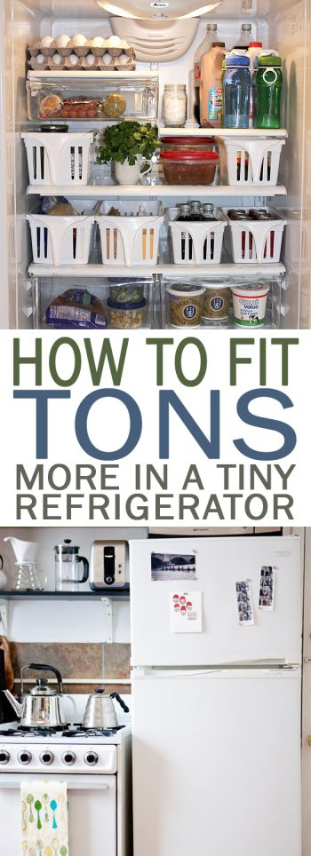 How to Fit TONS More in a Tiny Refrigerator - 101 Days of Organization| Home Storage, Home Storage and Organization, Easy Home Storage and Organization, Organize Your Home, Storage Ideas for the Home, DIY Storage, Organization, Storage and Organization #Organization #Storage #Home