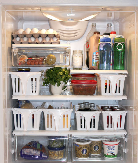 Merveilleux How To Fit TONS More In A Tiny Refrigerator U2013 101 Days Of Organization   Home Storage, Home Storage And Organization, Easy Home Storage And  Organization, ...