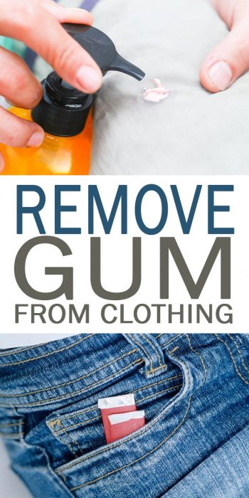 Remove Gum from Clothing - 101 Days of Organization| Clean Clothing Stains, Clean Clothing, Clothing Care Tips, Clothing Care Tips and Tricks