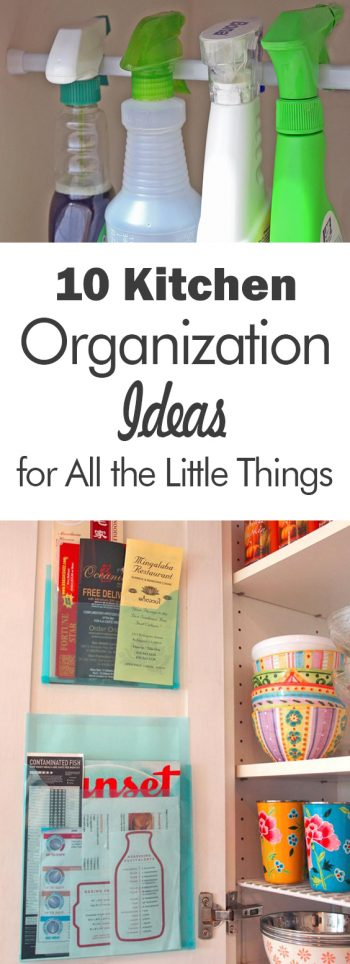 "10 Kitchen Organization Ideas for All the ""Little Things"" - 101 Days of Organization