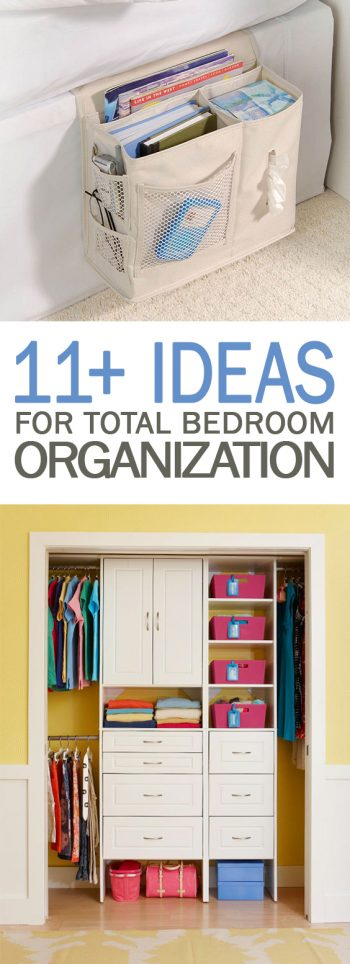 11+ Ideas for Total Bedroom Organization - 101 Days of Organization| Organization, Bedroom Organization, Bedroom Organization Ideas, Bedroom Organization DIY, Organization, Organization Ideas, Organization Ideas for the Home, Organization DIY, Organization Hacks